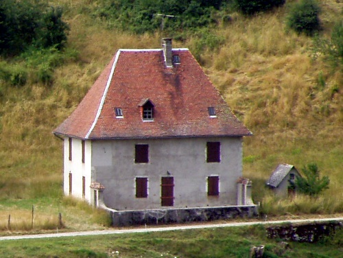 Photograph of A traditional Chartreuse house above St. Pierre de Chartreuse