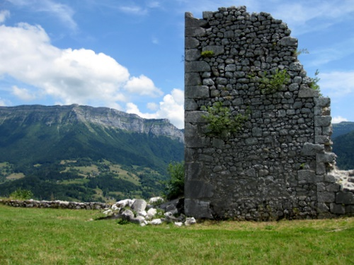 Photograph of A fragment of the castle at le Chateau above St. Pierre d'Entremont