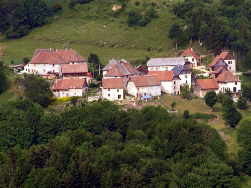 Photograph of The small hamlet of le Grande Village