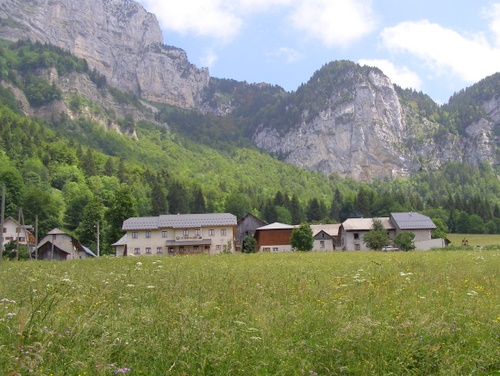 Photograph of The village of le Plagne below the col d'Alpette