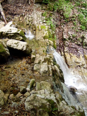 Photograph of A small waterfall velow the Cascade du Guiers