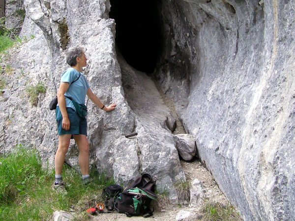 Photograph - A small cave on the route between the Guiers Mort and Cirque Sans Nom, Dent de Crolles