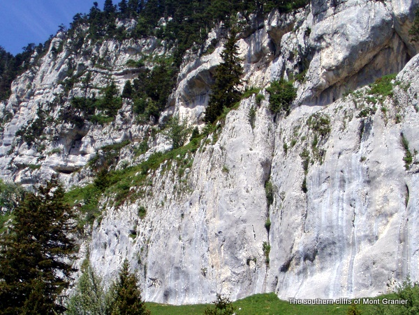 Photograph of the Southern Cliffs of Mont Granier