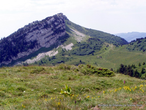 Photograph of the Rochers de Chalves, la Grande Sure