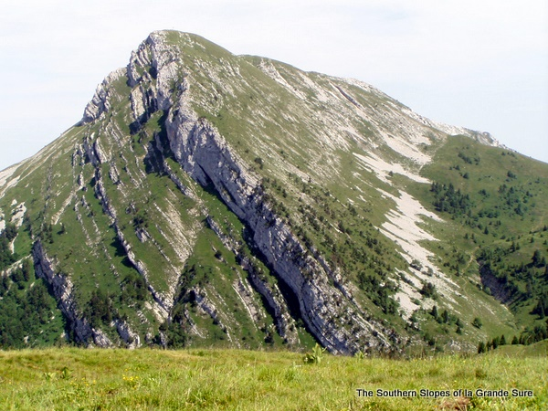 Photograph of the southern slopes of la Grande Sure