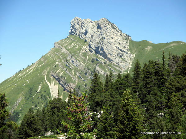 Photograph of Lance Sud de Malissard and the Col de Bellefont from the Chaos de Bellefont