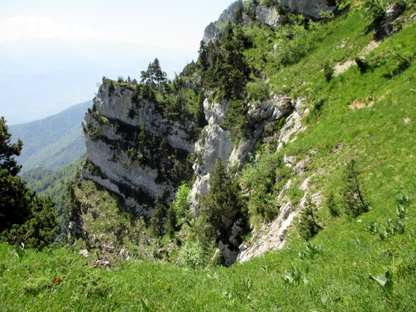 Photograph of the route up the Pas du Fourneau