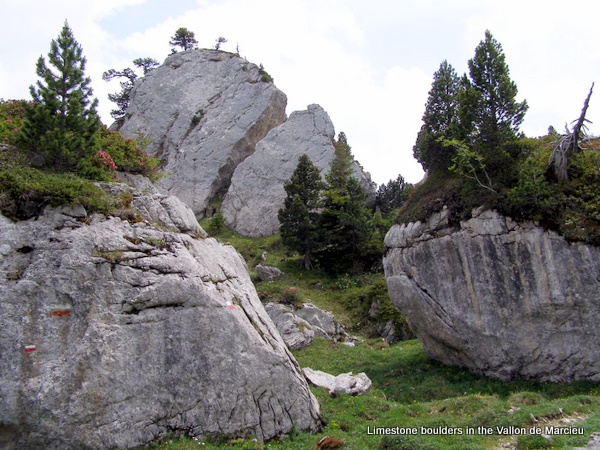 Photograph of the boulder field in the Vallon de Marcieu, l'Aulp du Seuil