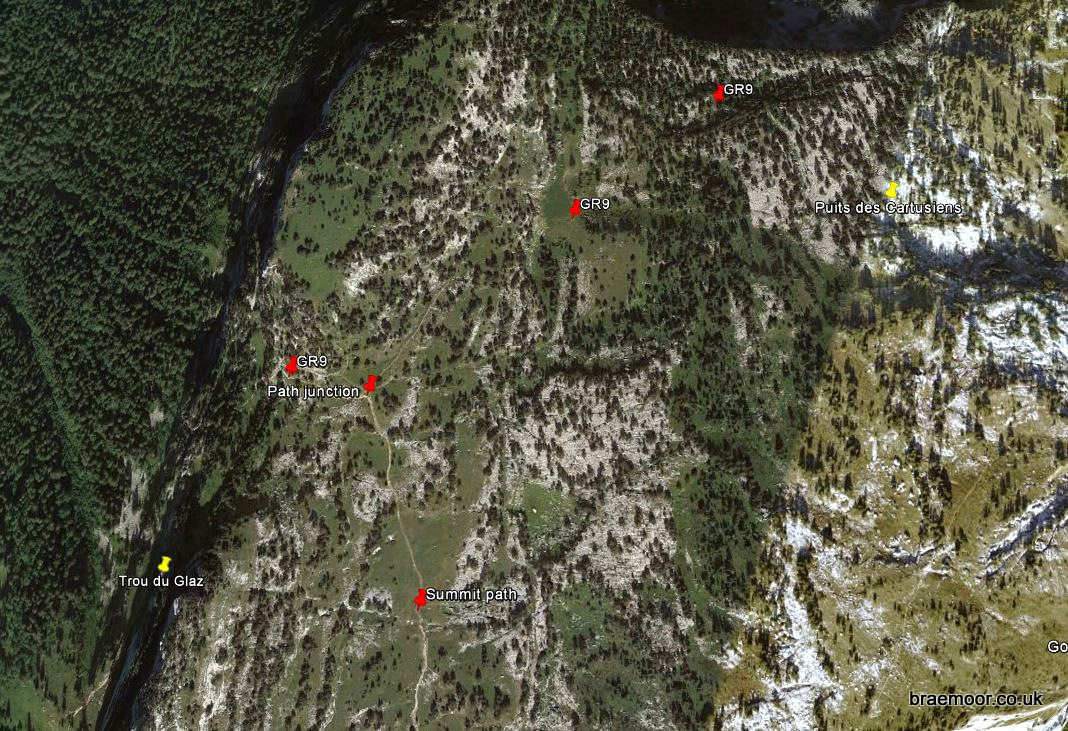 Location of Puits des Cartusiens on Google Earth