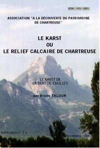 The cover of 'Le Karst de Dent de Crolles' booklet by Bruno Talour